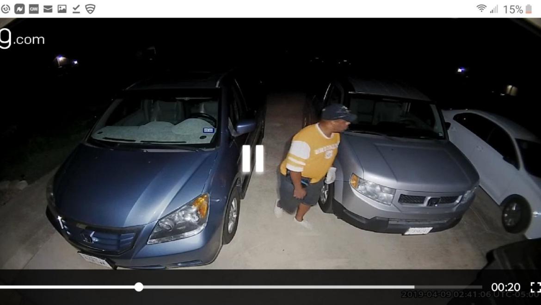 KPD Seeks a suspected car burglar caught on camera
