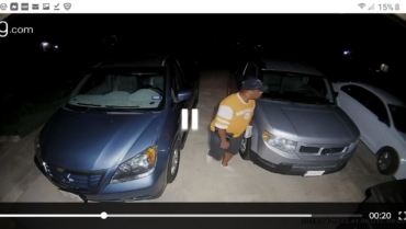 KPD Seeks a suspected car burglar caught on camera