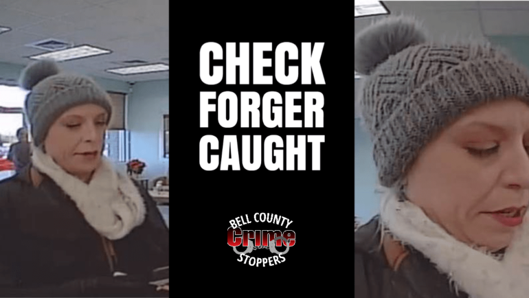 Check Forger Caught